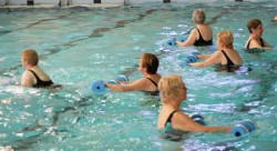 Aquafit is a great way to exercise for individuals of all abilities. This program uses the buoyant qualities of water to enhance physical fitness through exercises. It is a medium-impact water class designed to provide cardiovascular conditioning, improved muscle tone, and improved balance. It is a total body workout without the stress of land-based exercise. Non-swimmers welcome!